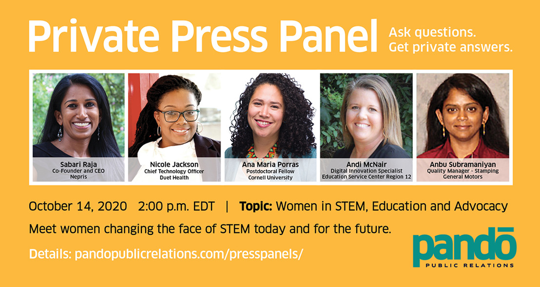 Private Press Panel: Women in STEM, Their Mentorship and Influence on Children, Teens and Young Adults