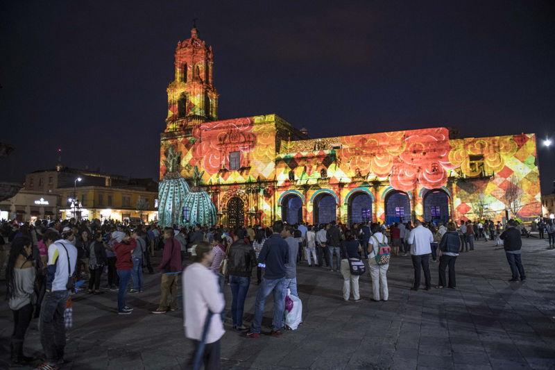 Mapping sobre Templo y Ex-Convento Franciscano de San Buenaventura en Morelia