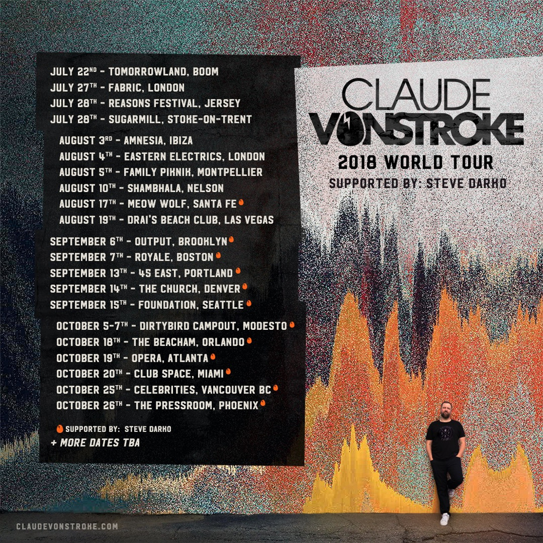 Claude VonStroke Announces Phase 1 of Summer/Fall World Tour