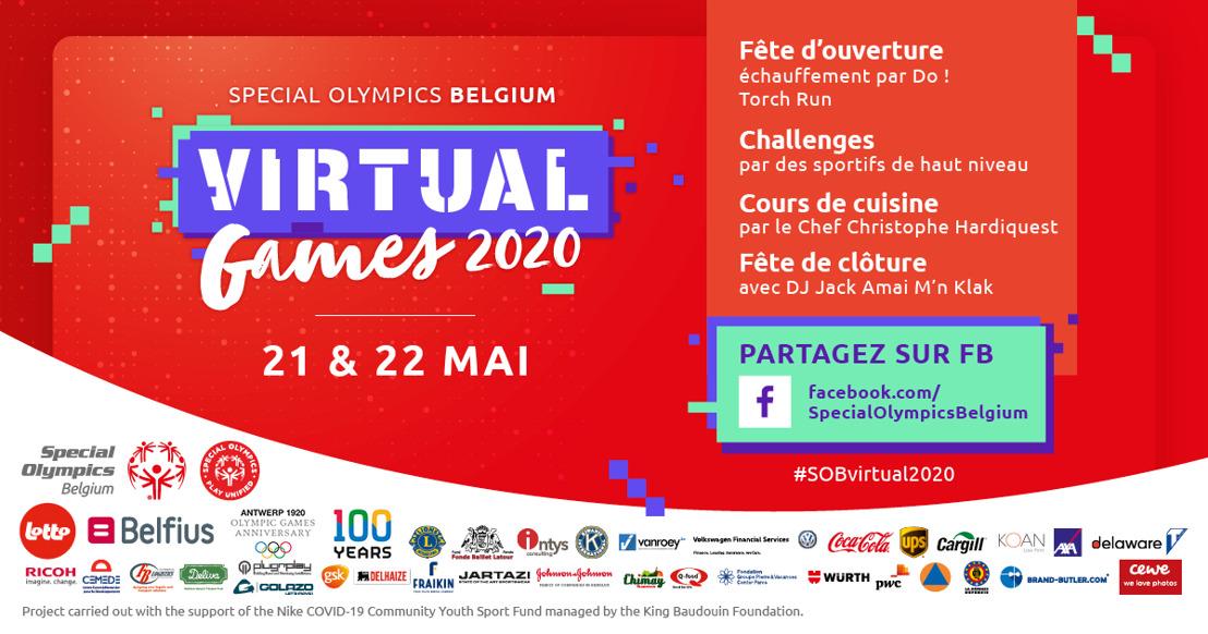 Communiqué de presse : Special Olympics Belgium organise le 21 et 22 mai les premiers Jeux Virtuels