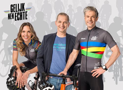 """DDB & Kom op tegen Kanker challenge la Flandre """"Gelijk nen Echte""""."""