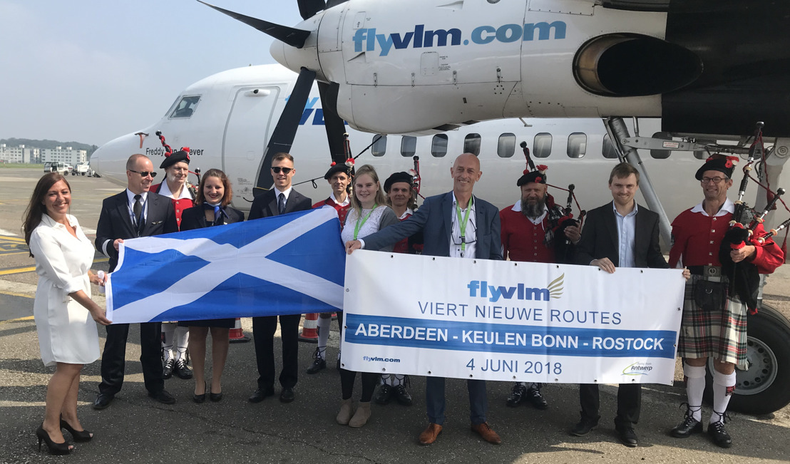 VLM flying from Antwerp to Aberdeen, Cologne/Bonn Airport and Rostock