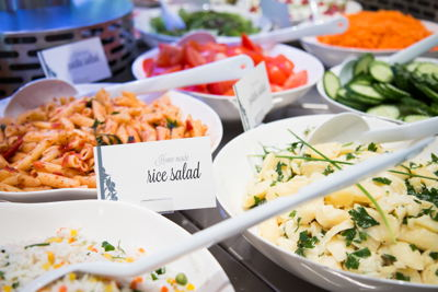 Catering prepared by Autogrill chefs