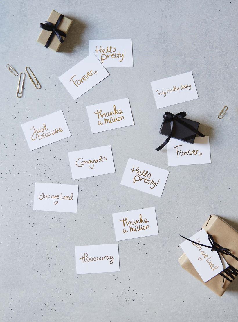 I Love My Type - mini message cards - €7,00 voor pakket van 8 kaartjes