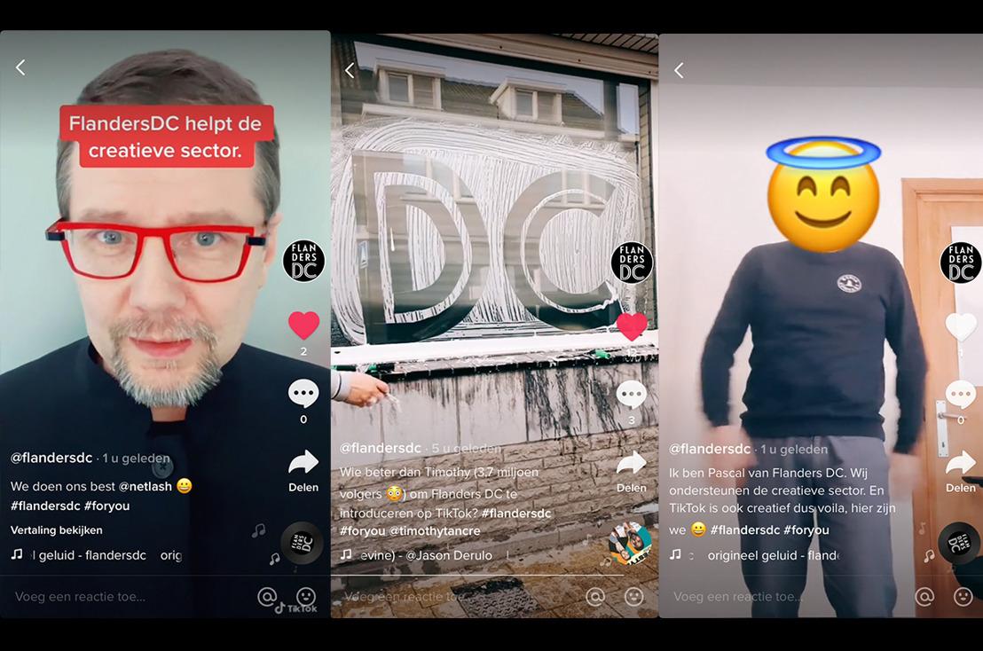 Flanders DC blikt terug op 2020. En deelt haar ervaringen... op TikTok.