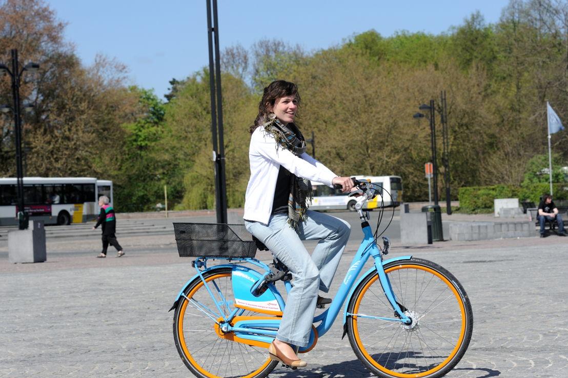 De Lijn neemt de aandelen in deelfietsen Blue-bike over van de NMBS . (Credit: NMBS)