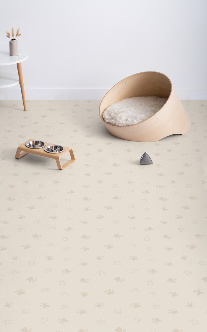 This paw print flooring is perfect for pet owners