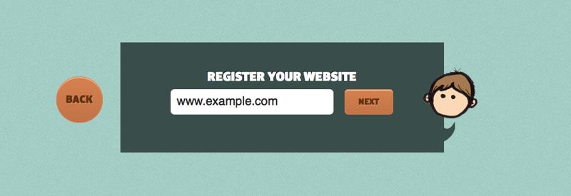 URL inscription - focus