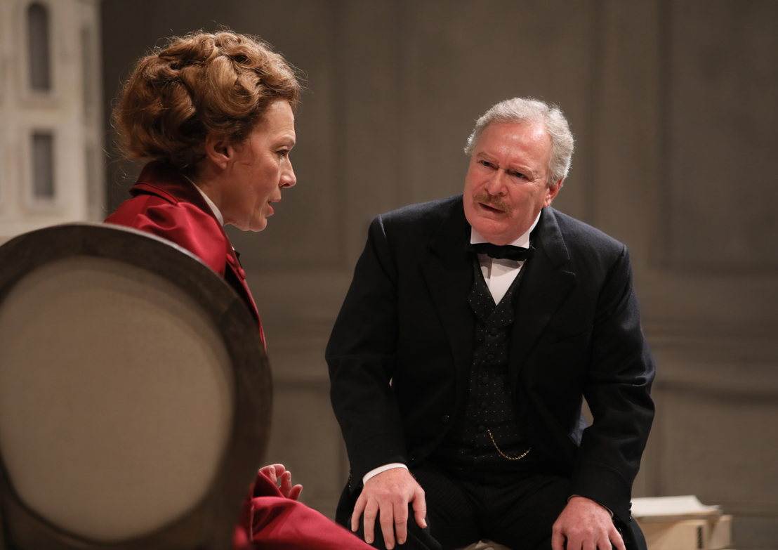 Martha Burns (Nora) and Benedict Campbell (Torvald) in A Doll's House, Part 2 by Lucas Hnath / Photos by Tim Matheson<br/><br/>Canadian Premiere<br/>September 16 – October 14, 2018<br/>&lt;a href=&quot;https://www.belfry.bc.ca/a-dolls-house-part-2/&quot; rel=&quot;nofollow&quot;&gt;www.belfry.bc.ca/a-dolls-house-part-2/&lt;/a&gt;<br/><br/>Belfry Theatre, 1291 Gladstone Avenue, Victoria, British Columbia, Canada<br/><br/>Creative Team<br/>Lucas Hnath - Playwright<br/>Michael Shamata - Director<br/>Christina Poddubiuk - Set &amp; Costume Designer<br/>Kevin Fraser - Lighting Designer<br/>Tobin Stokes - Composer &amp; Sound Designer<br/>Jennifer Swan - Stage Manager<br/>Carissa Sams - Assistant Stage Manager<br/>Hilary Britton-Foster - Assistant Lighting Designer