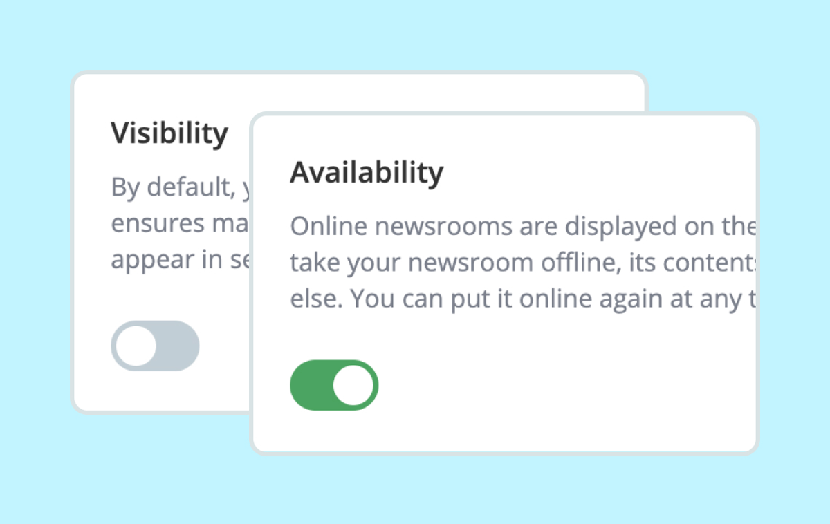 Help: Newsroom Visibility and Availability