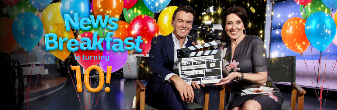 ABC TV's News Breakfast is turning 10!