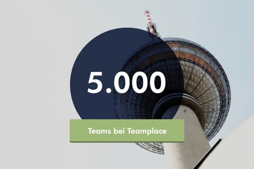 Meilenstein für Teamplace: Über 5.000 Teams zusammen erfolgreich in der Cloud