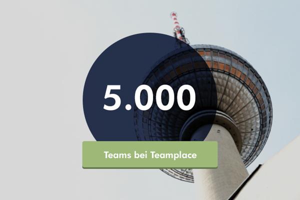 Preview: Meilenstein für Teamplace: Über 5.000 Teams zusammen erfolgreich in der Cloud
