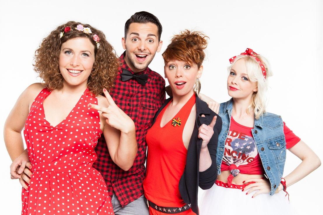 De KetnetBand : Maureen, Thomas, Sien en Charlotte