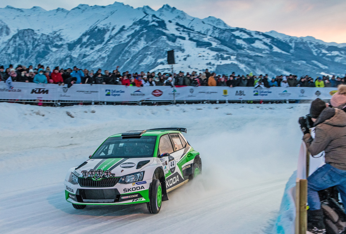 ŠKODA's WRC 2 champion Jan Kopecký wins GP Ice Race ahead of junior Julian Wagner