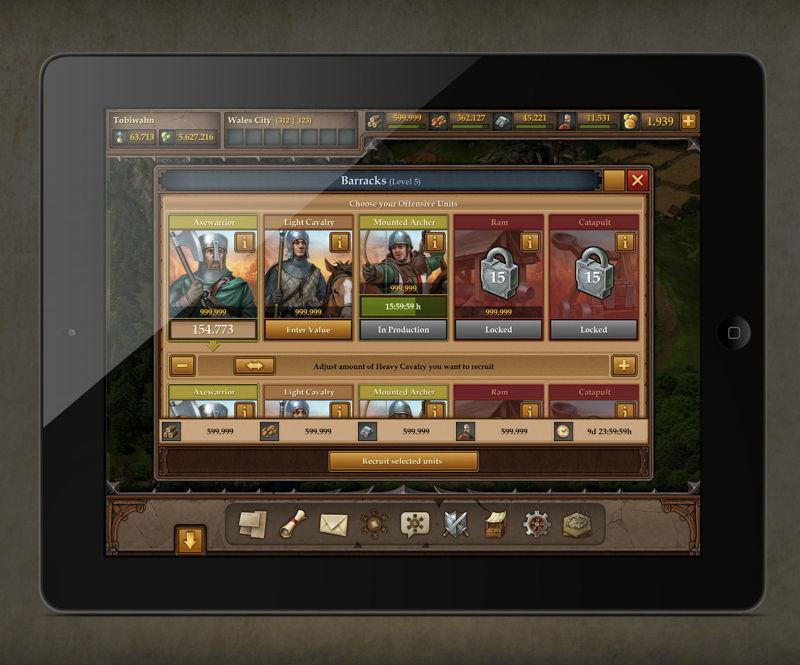 Tribal Wars 2 Tablet Screenshot