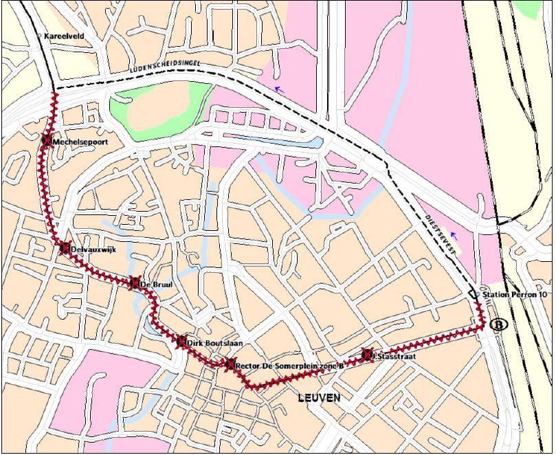 Omleiding lijnen 284, 285 en nachtbus 284 richting Mechelen