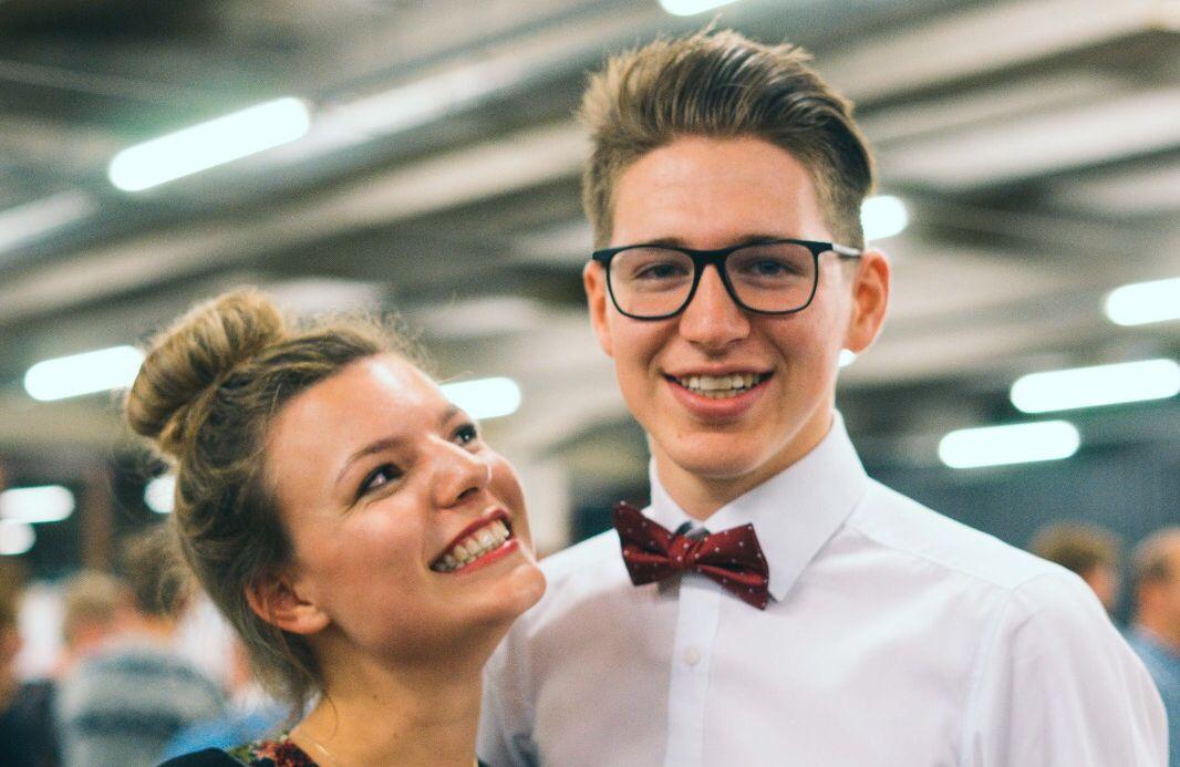 Dyonisa en Pieter hier samen op de proclamatie van Journalistiek