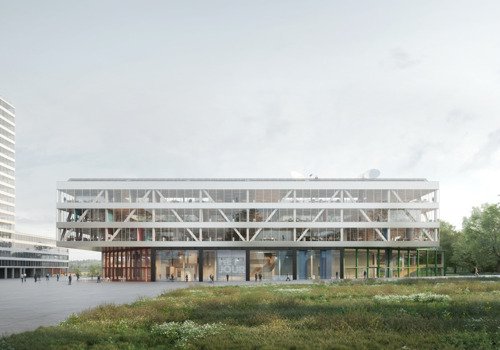 Broadcaster VRT opts for a new compact, horizontal building