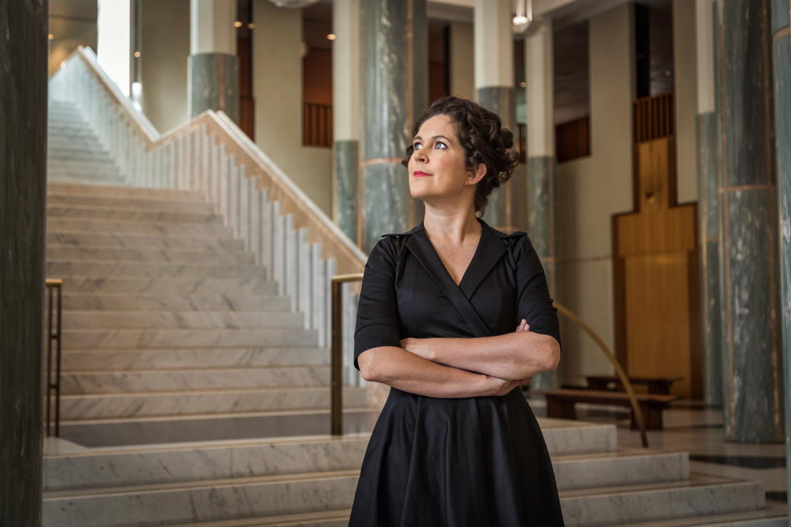 Annabel Crabb in The Great Hall in Parliament House. Photo by Greg Nelson