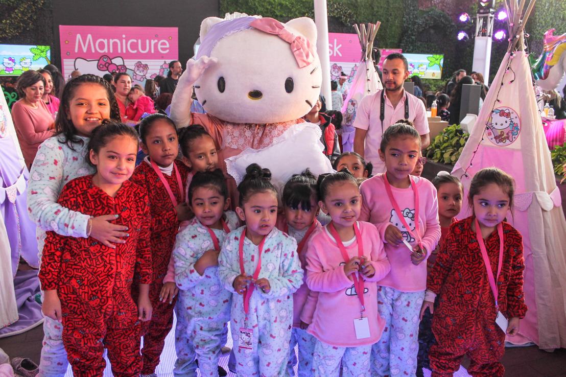 Así se vivió la pijamada de Hello Kitty en Liverpool Insurgentes