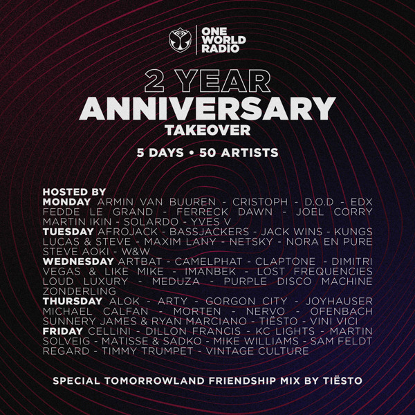 Preview: One World Radio's 5-day long on-air birthday party takeover
