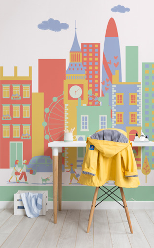 Top Travel Destinations Redesigned as Toy Towns for Kids Mural Collection
