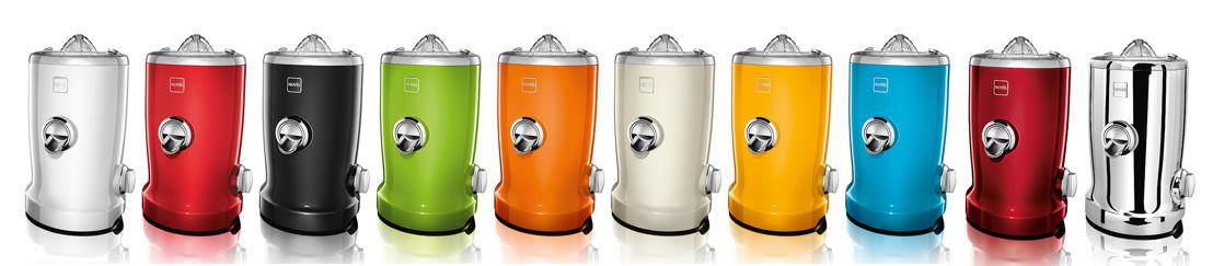 Novis Vita Juicer en 10 couleurs différentes