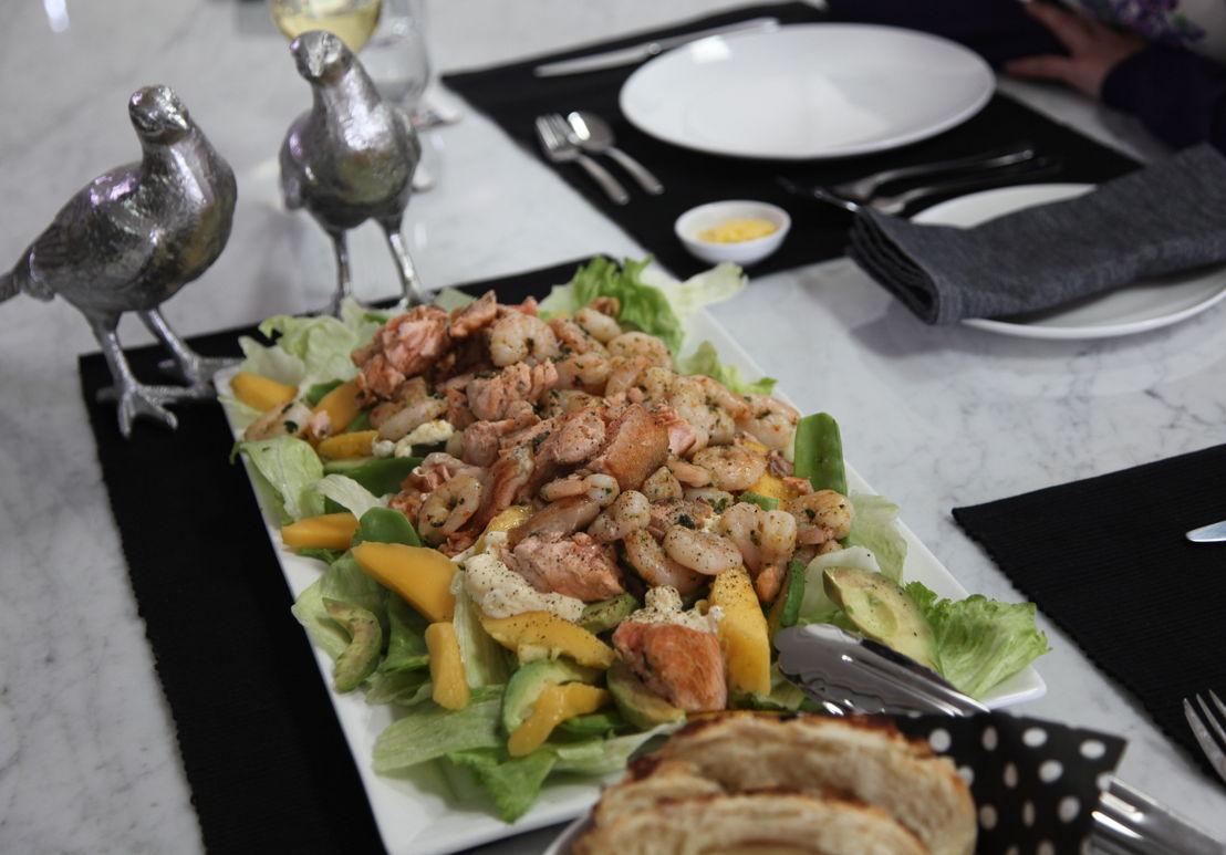 Cory Bernardi prepares a seafood salad