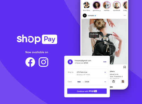 Shop Pay expands to Facebook and Instagram