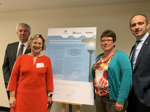 VVSG, Fluvius en Agoria gaan voor volledige verledding openbare verlichting
