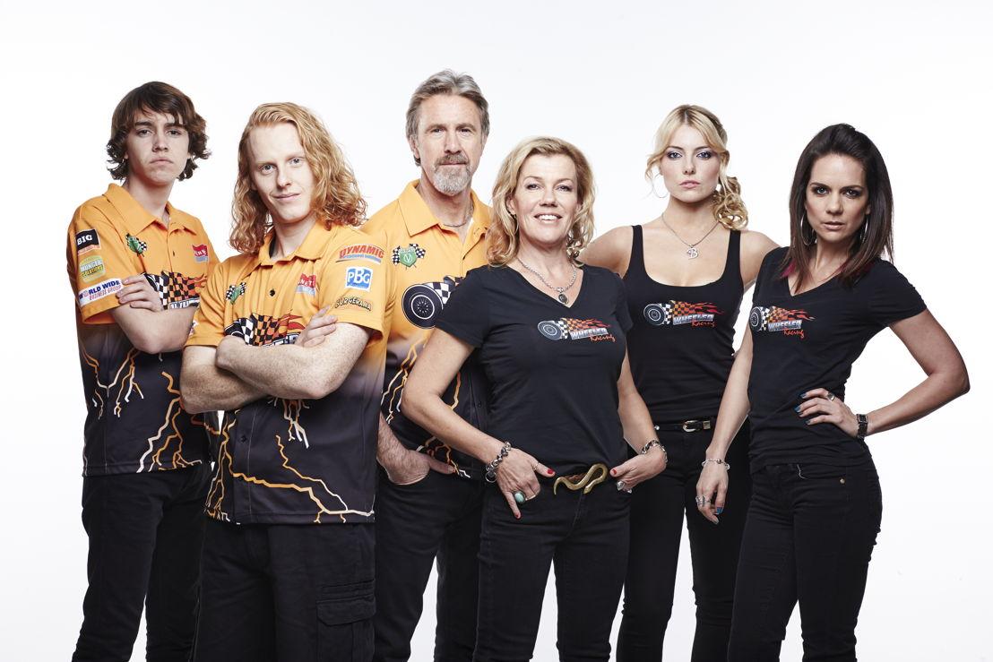 The Wheeler Family - Shawn (Dougie Baldwin), Kayne (Rhys Mitchell), Wayne (Glenn Robbins), Julie (Robyn Malcolm), Brianna (Madeleine Jevic) and Amber (Michala Banas)