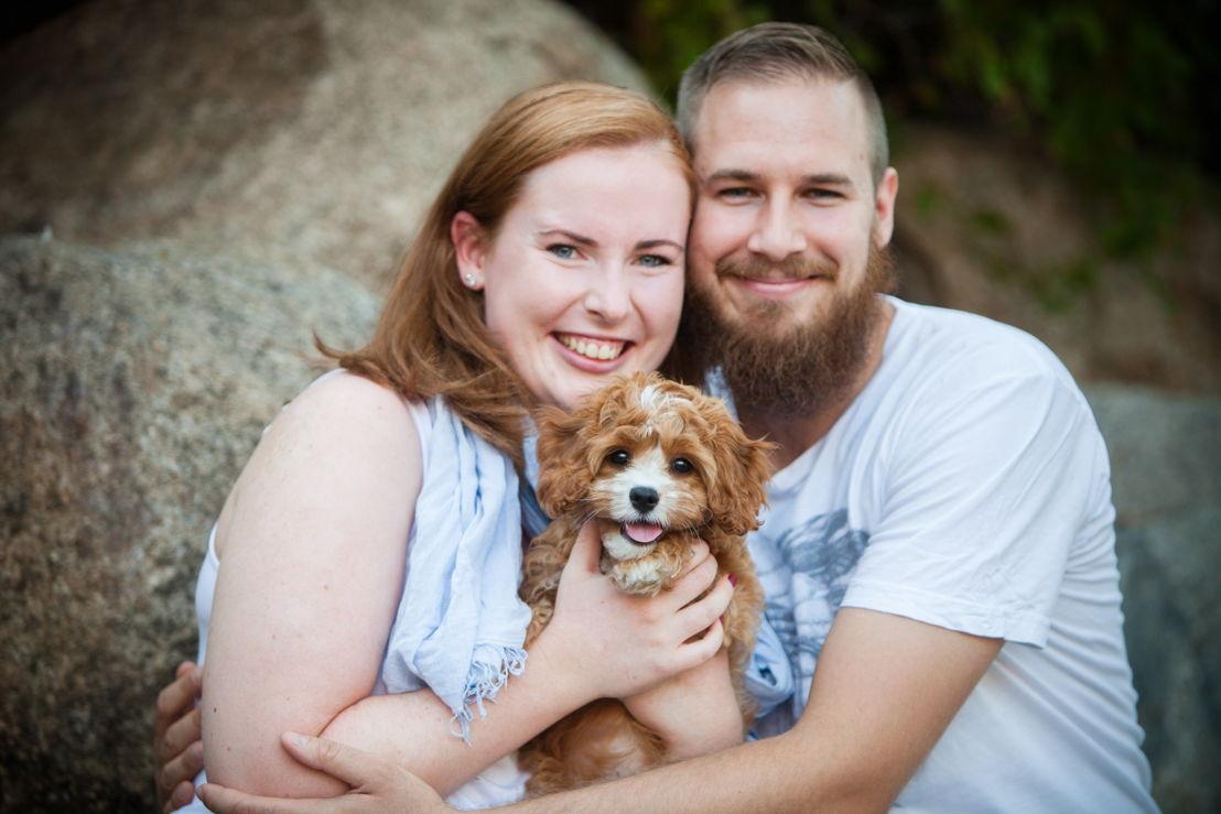 Emma Serg and their dog Ralph photo by Tanya Love