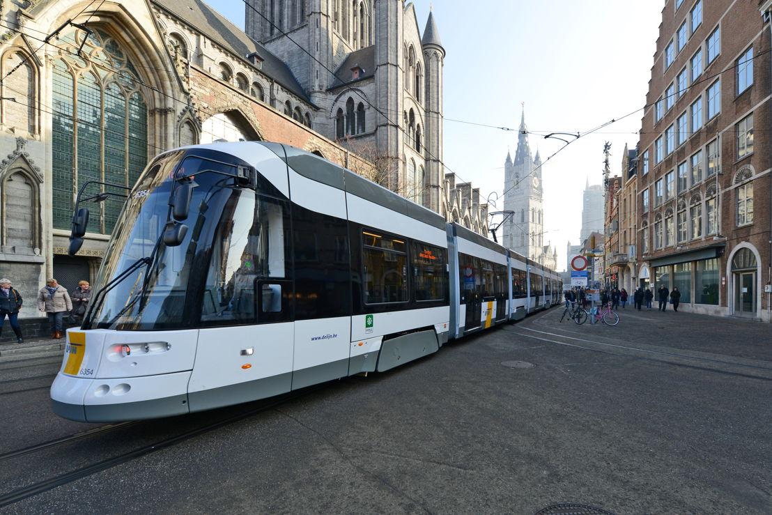 De Flexity 2-tram van De Lijn in Gent. Foto: De Lijn.