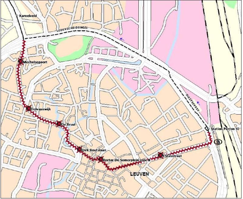 Omleiding lijnen 284 en 285