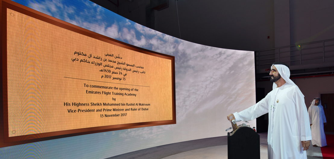 13 November - Emirates Flight Training Academy officially inaugurated