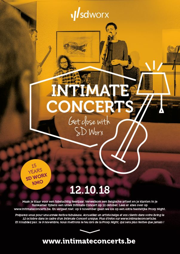 Le concept: Intimate Concerts - Get Close With SD Worx