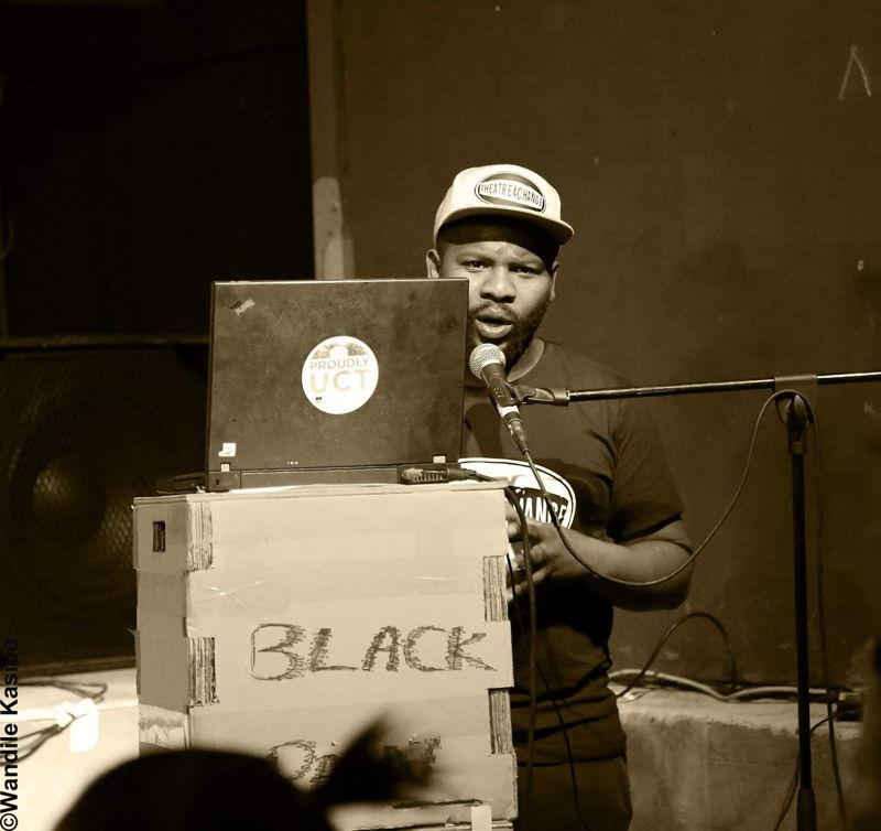 Mandisi Sindo in Black Art & Communities At Heart (BACAH). Image by Xolani Tulumani