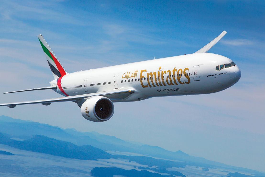 Emirates Boeing 777-300ER in flight