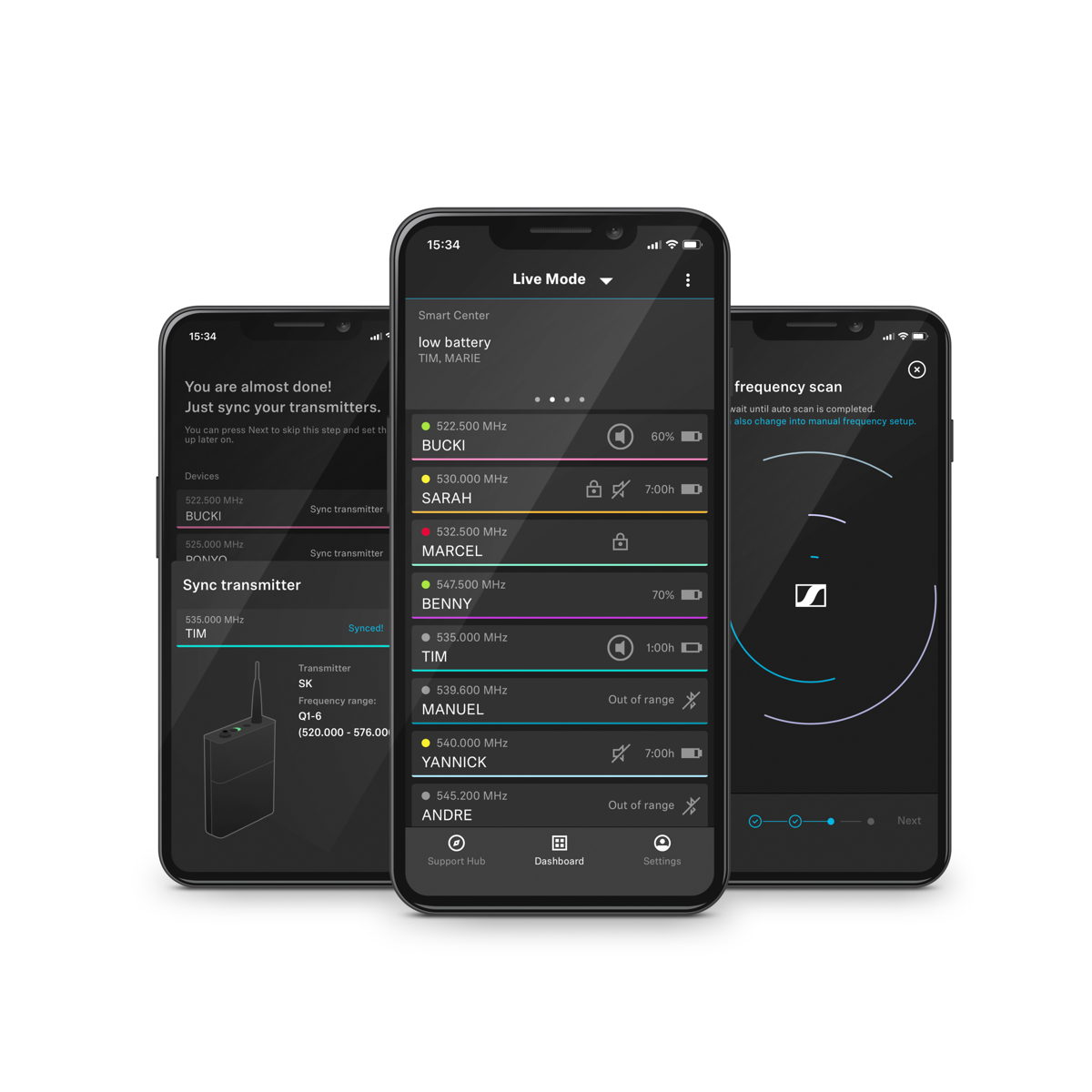 The Smart Assist App guides users through the set-up of their wireless microphone system – like an engineer in your pocket