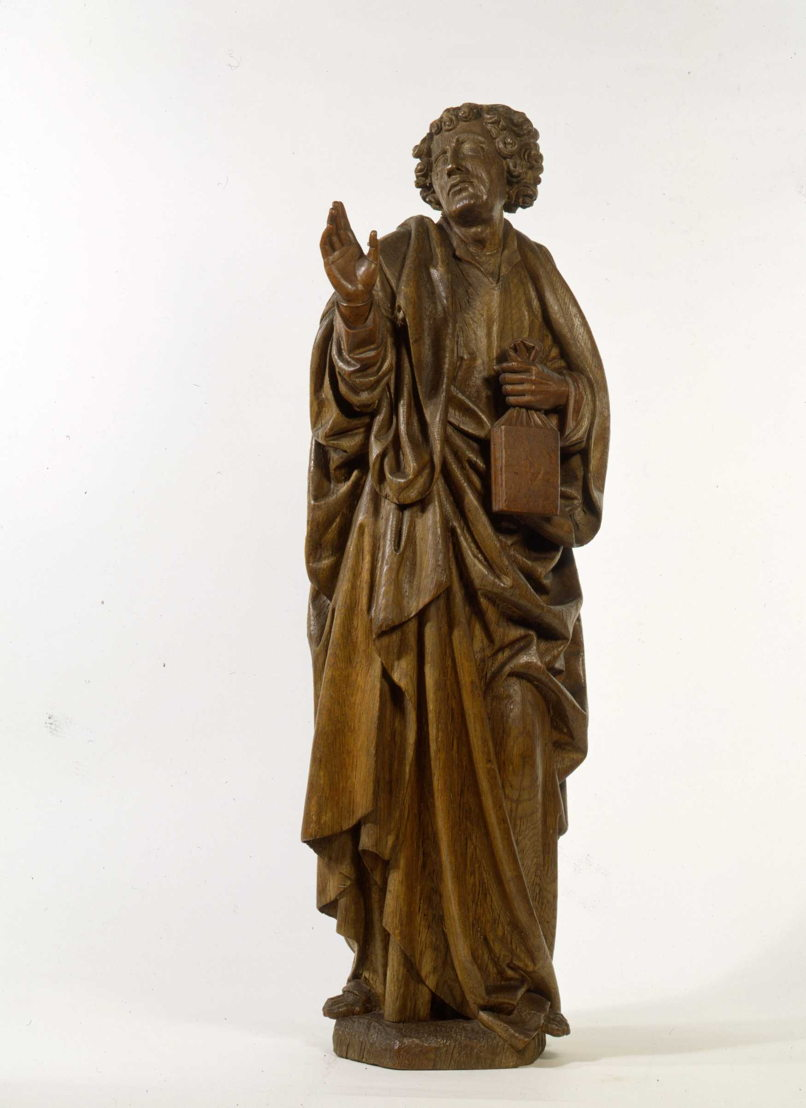 Brussels, Passchier Borman, Mourning John from a Calvary, c. 1523, stripped oak<br/>Photo (c) Suermondt-Ludwig-Museum