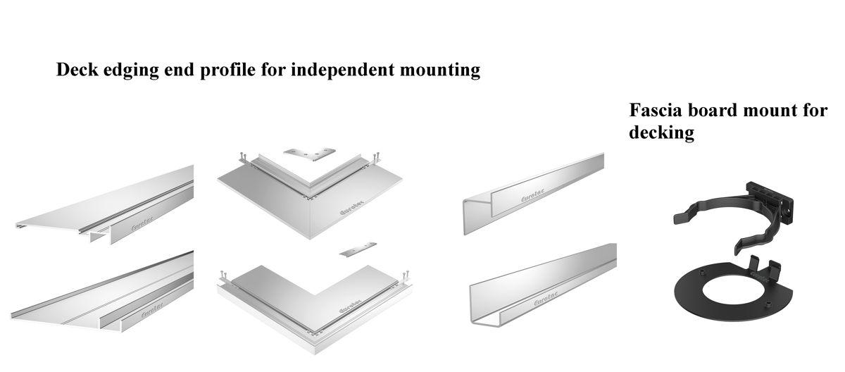 Terrace edge finishing profiles