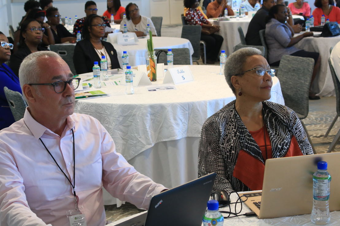 Teacher Education Conference - Mr Bertrand Troadec, Director of the ESPE Martinique and Mrs Ghislaine Moetus Schuller, Educative Cooperation Officer at the Academy of Martinique