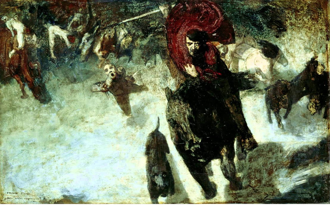 Thomas Bellinck/ROBIN - Simple as ABC #3: The wild Hunt - 21 > 28/05 © Franz von Stuck, Die Wilde Jagd, 1889