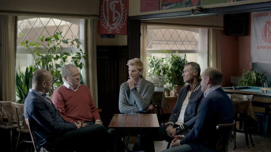 Standard Luik 1993: Patrick Asselman, Arie Haan, Ruben Van Gucht, Henk Vos en Thierry Pister - (c) Deklat Binnen