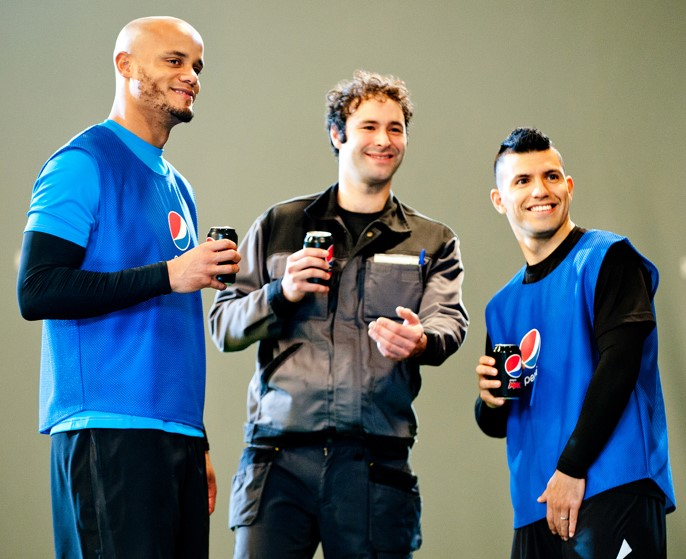 Kompany & Aguero - Pepsi Blue Card Campaign 2016
