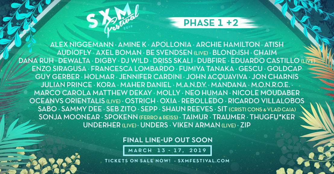 SXM Festival Announces Phase 2 Lineup Announce for March 13-17 Event