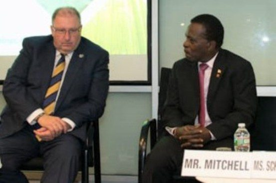 Dr. the Rt. Hon. Keith Mitchell, Prime Minister of Grenada; and Hartwig Schafer<br/>Vice President, Operations Policy &amp; Country Services at the World Bank.