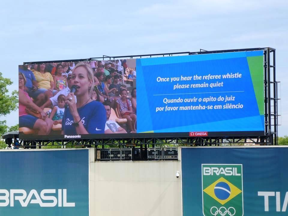 JJOO Río 2016 Centro Acuático Pantallas Panasonic