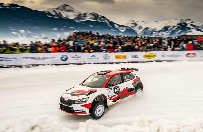 """Fabian Kreim won ŠKODA's """"Ice Race of Champions"""" ahead of Julian Wagner in Zell am See"""